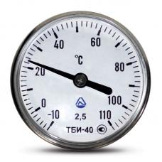 Термометр биметаллический игольчатый ТБИ 40 (корпус - нержавеющая сталь) 0 … +160