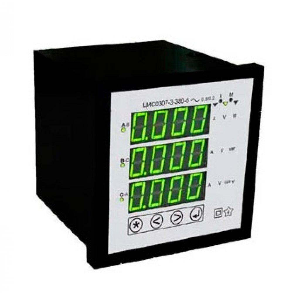 Щитовые цифровые многофункциональные сетевые измерители ЦИС0307 c RS485