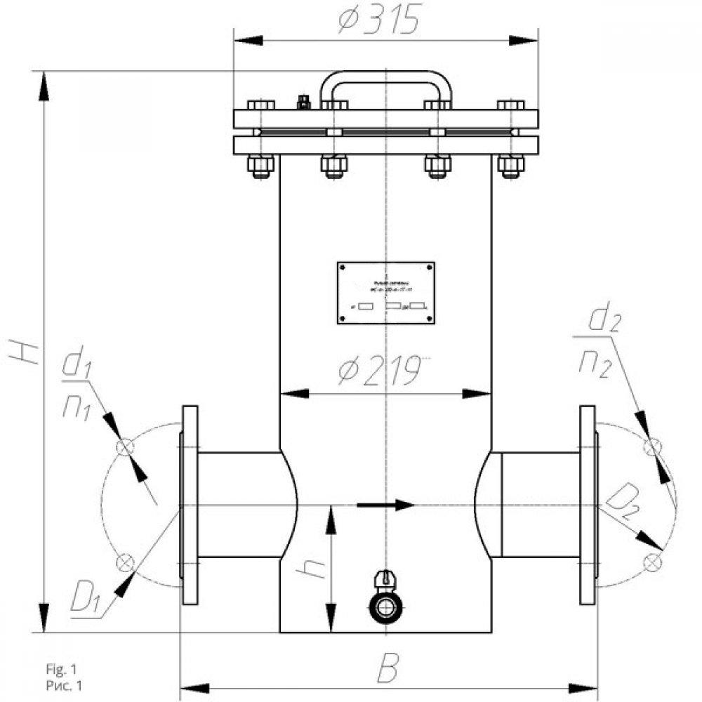 Фильтр сетчатый ФС-II-80-0,6-2Т (сливной)