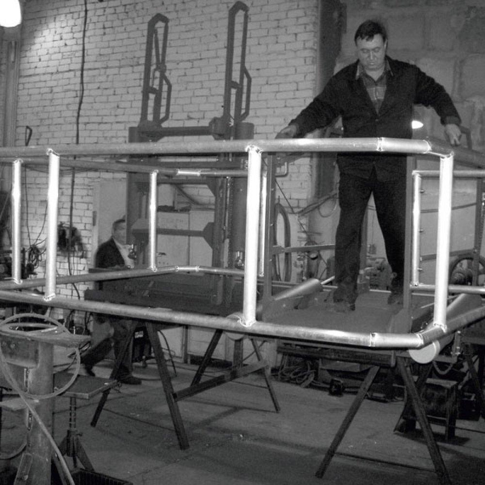 Мостик откидной эстакадный МОП-4